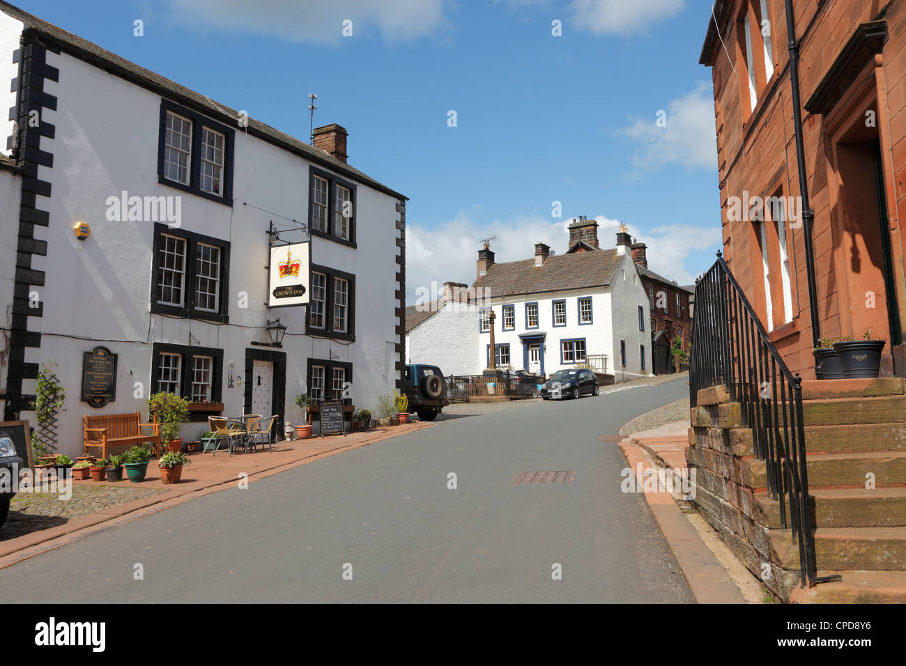 The Crown Inn Kirkoswald in the Eden Valley Cumbria, England, UKUK - Stock Image