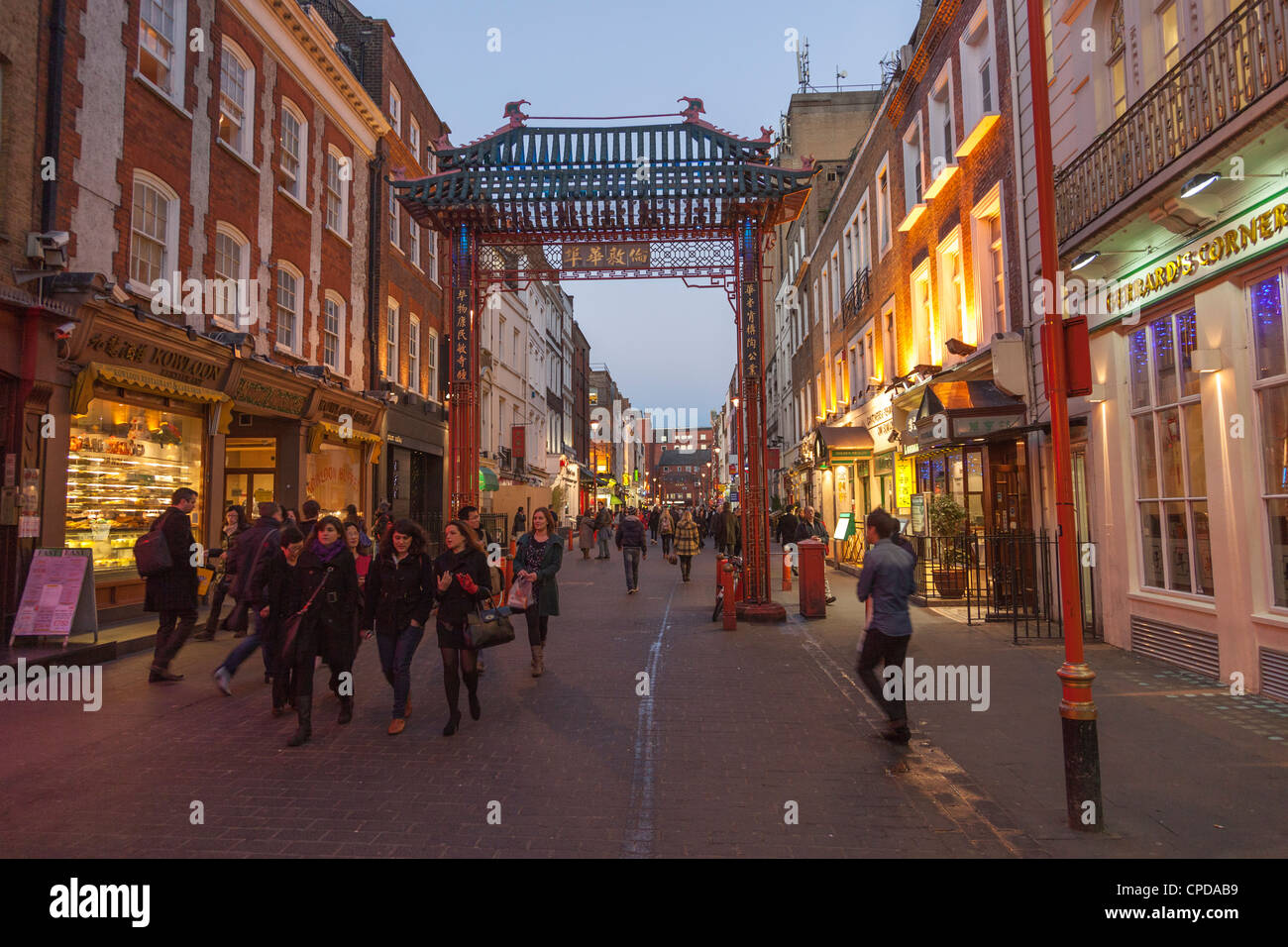 Gerrard Street-the heart of London,s China Town,Soho,London,England Stock Photo