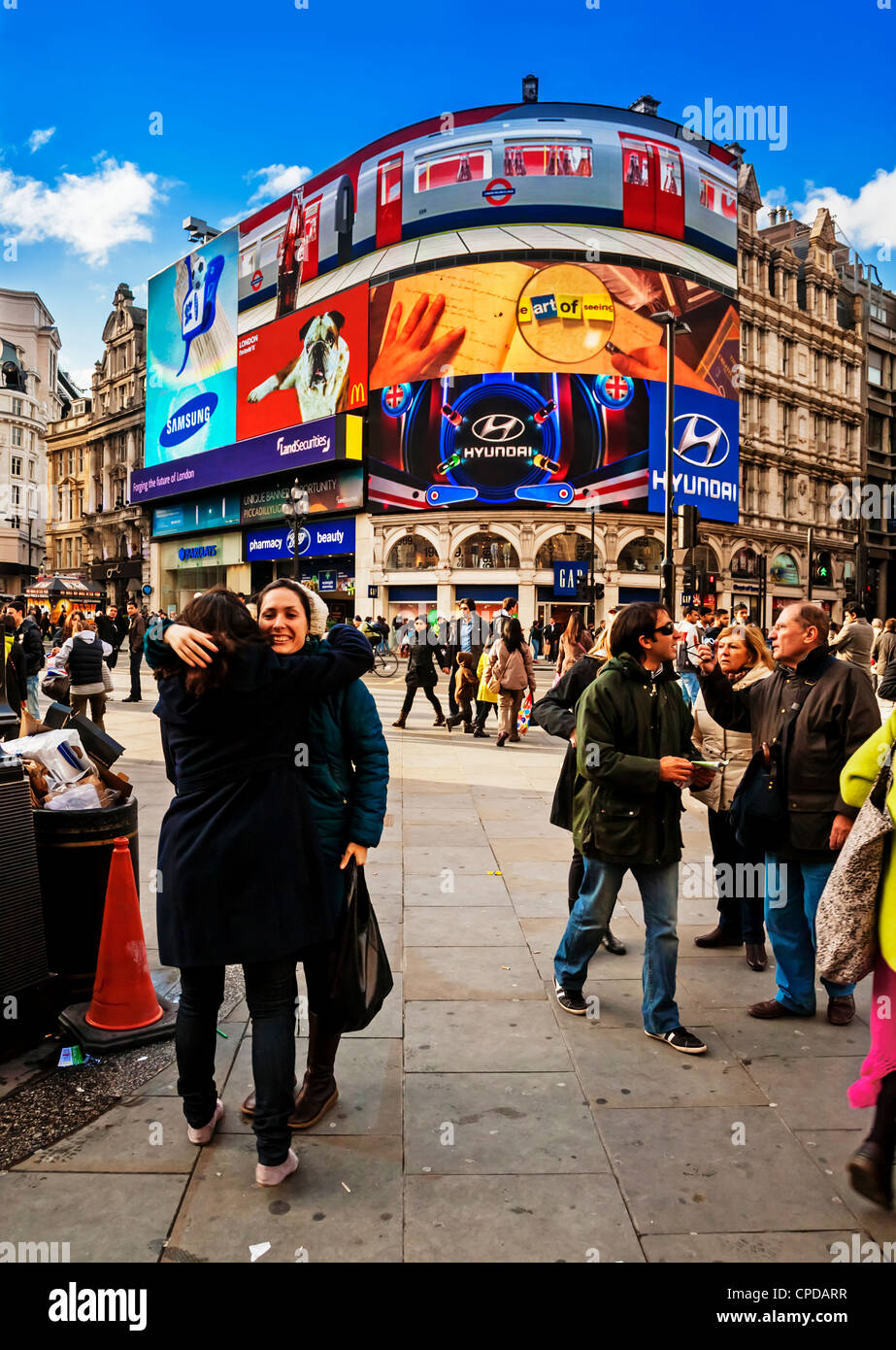Piccadilly Circus, London, England. - Stock Image
