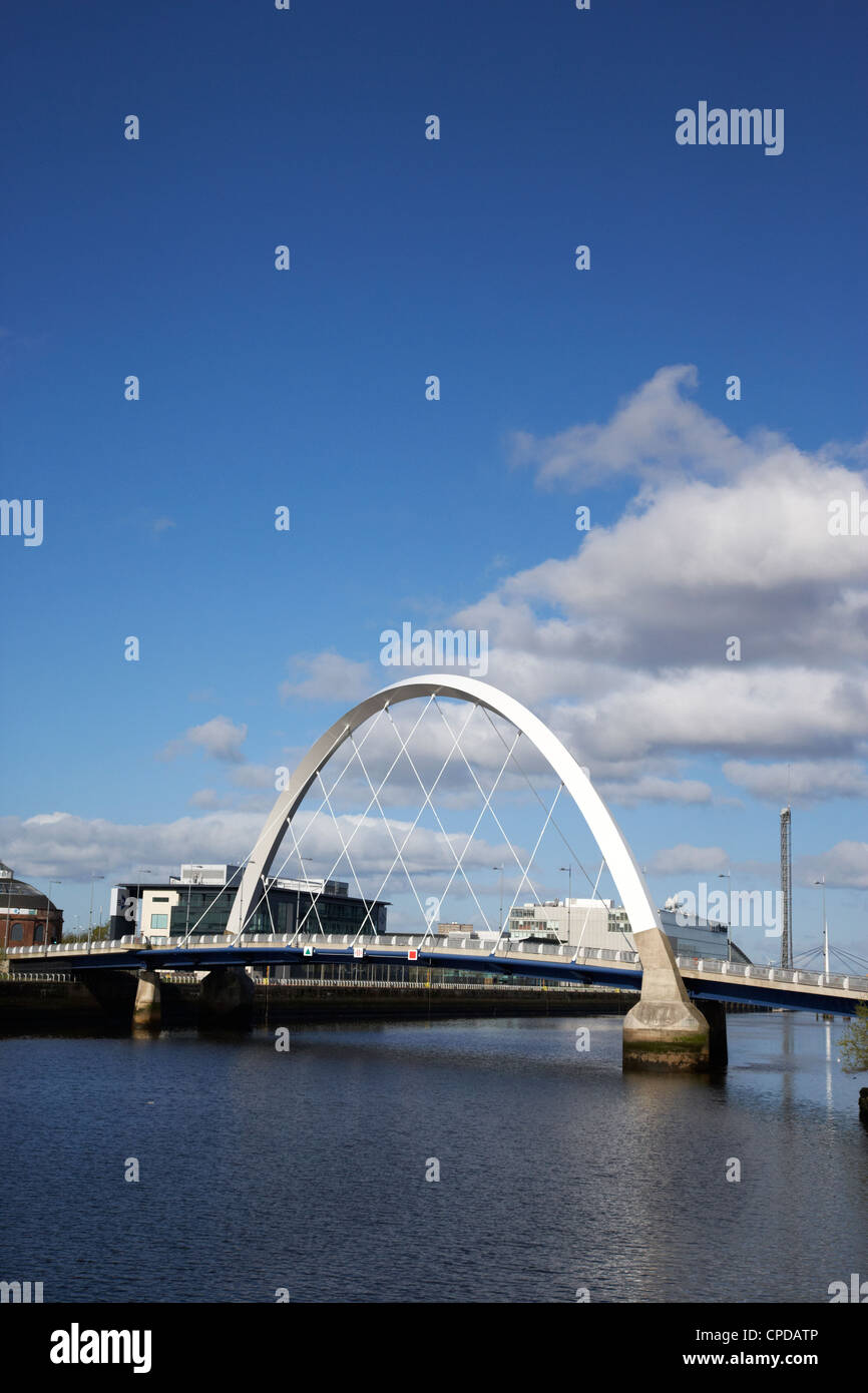The Clyde Arc bridge over the river clyde in Glasgow Scotland UK Stock Photo