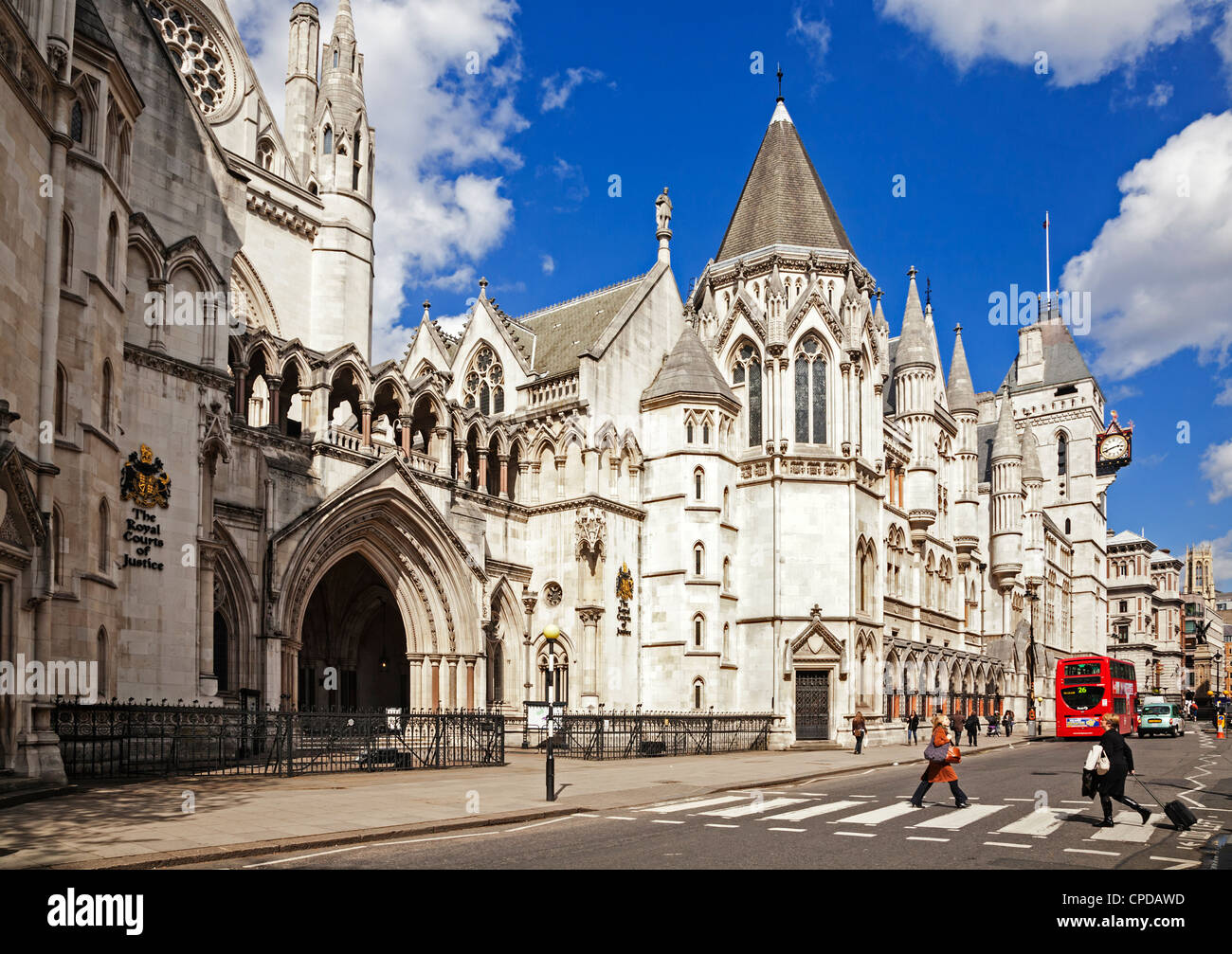 The Royal Courts of Justice, Fleet Street, London, England. - Stock Image