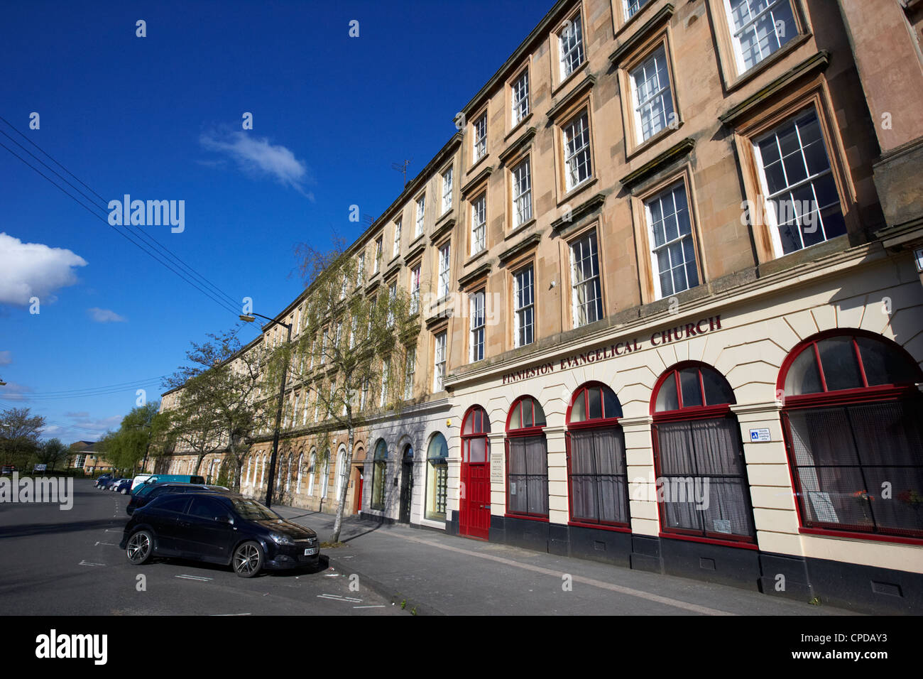 tenement block on minerva street finnieston Glasgow Scotland UK - Stock Image