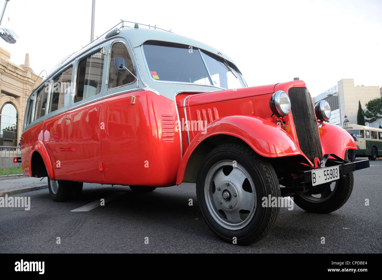 Chevrolet utility 1 1/2 victor valls 1934 owner: Sagales. 3TH classic bus Rally Barcelona - Stock Image