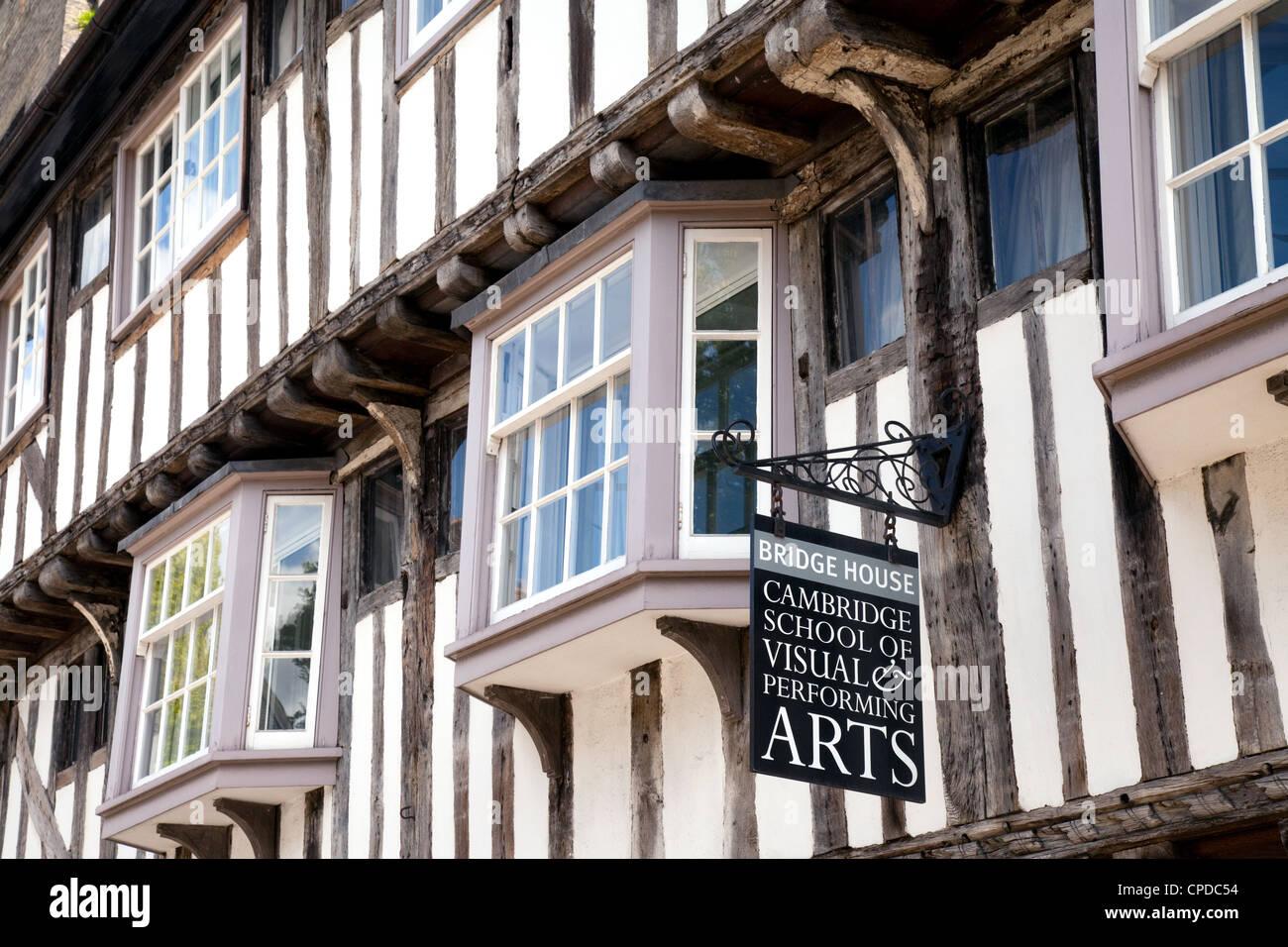 Bridge House, a medieval tudor building on Bridge St, Cambridge UK - Stock Image
