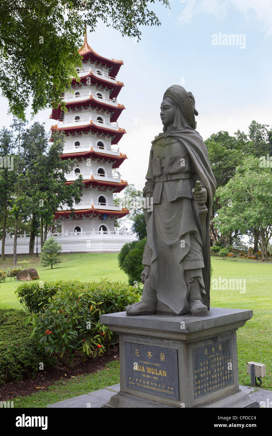 Bon Statue Of Hua Mulan, Chinese Garden, Singapore Stock Photo ...