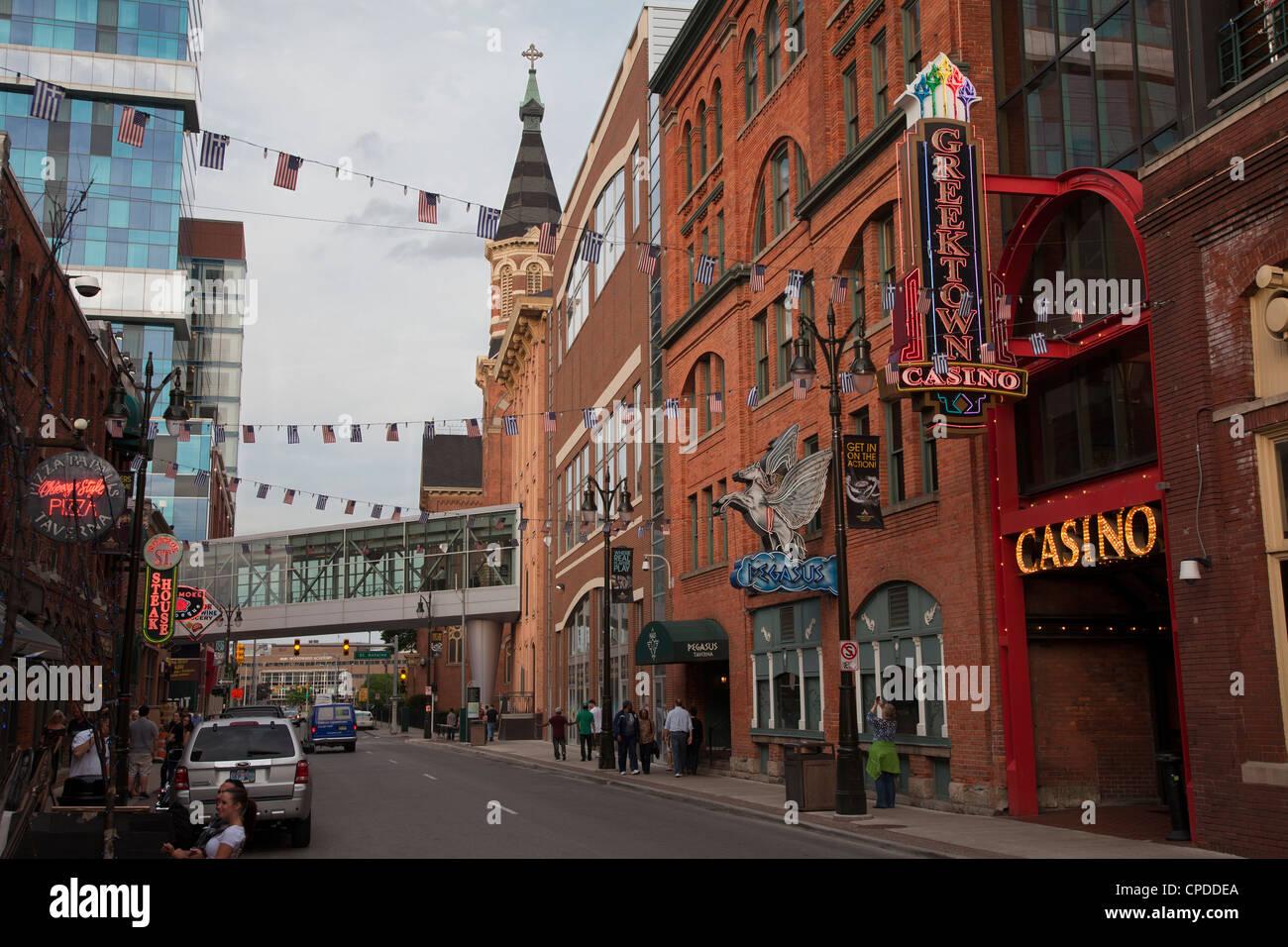 Greektown nightlife, Detroit, Michigan - Stock Image