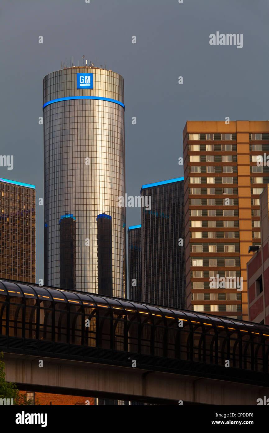 General Motors World Headquarters, Detroit, Michigan - Stock Image