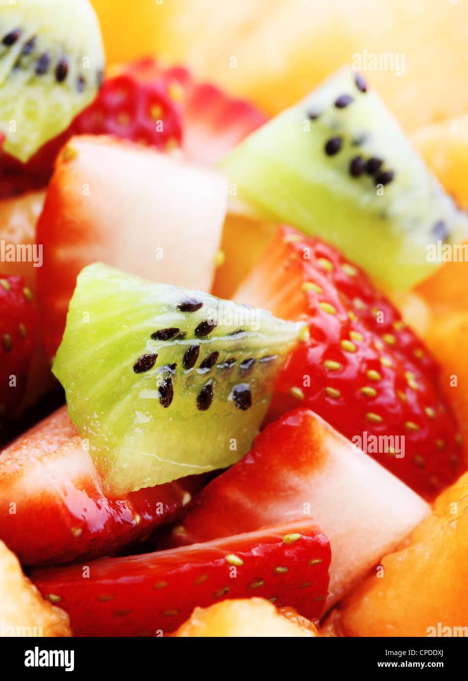Close-up of Fresh Fruit Salad - Stock Image