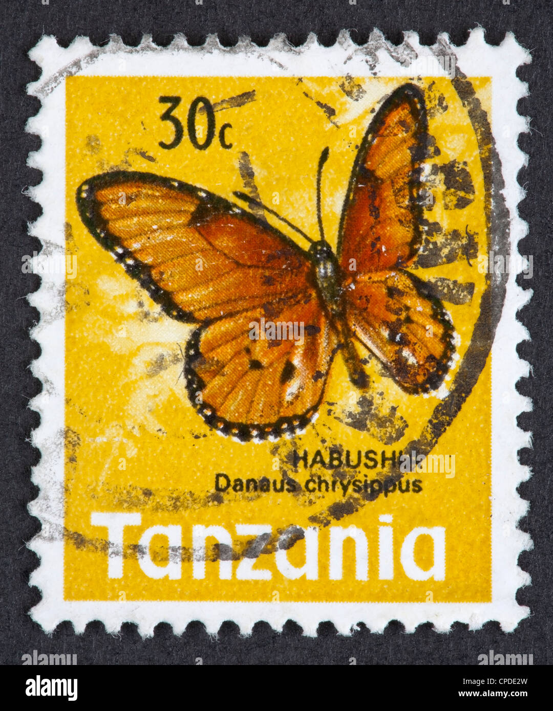 Tanzanian postage stamp - Stock Image