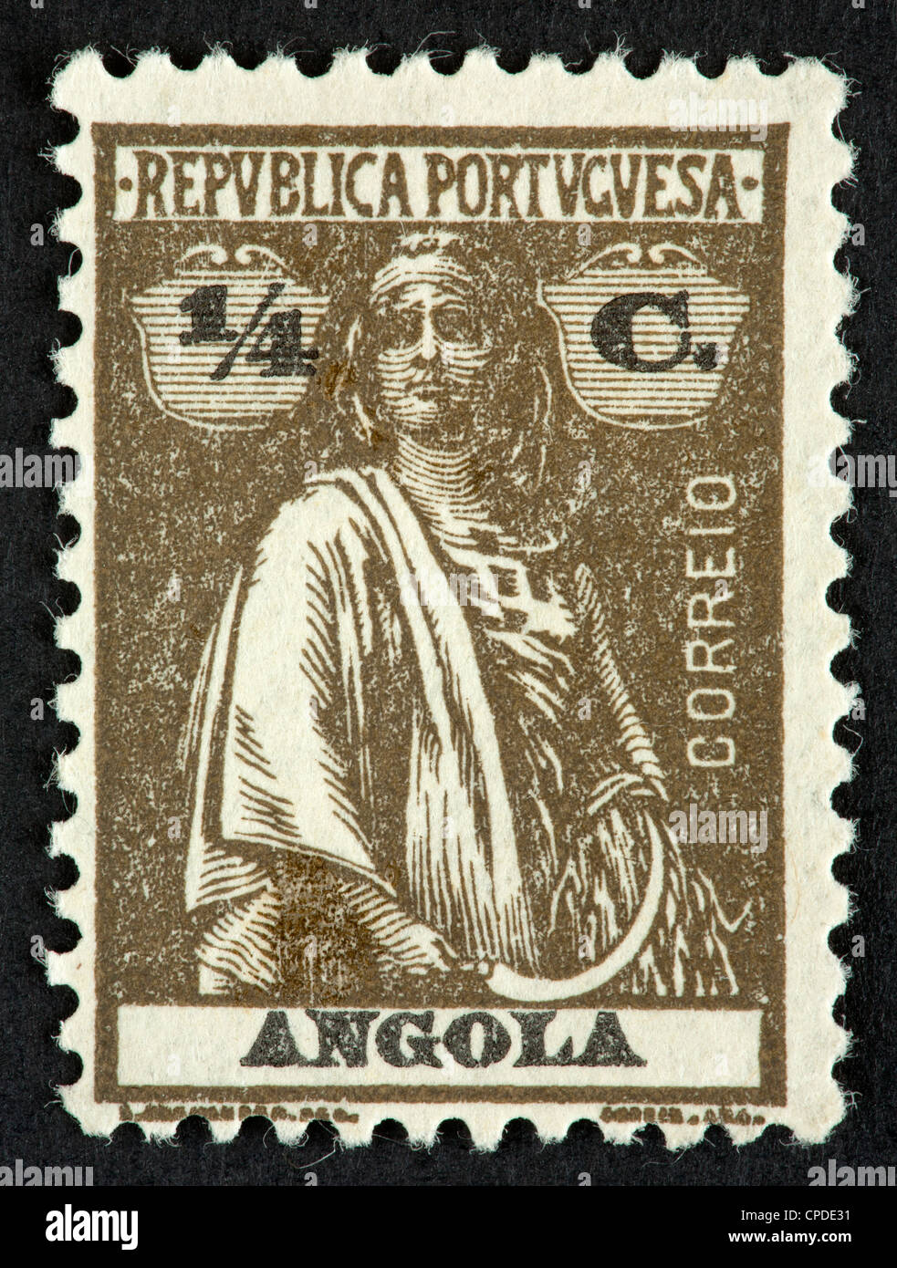 Portuguese Angola postage stamp - Stock Image