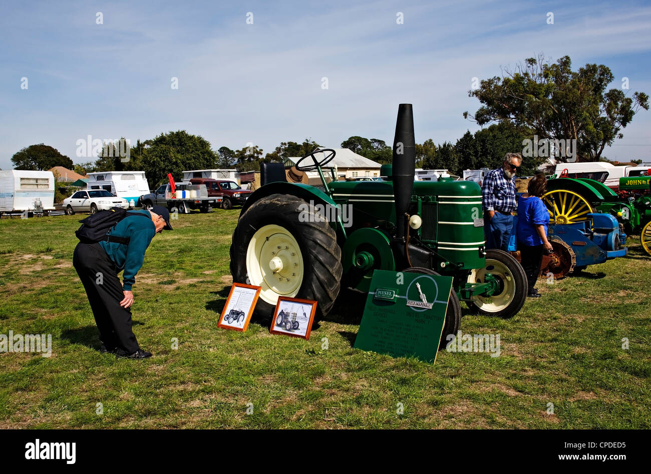 Clunes Australia  /  Old restored tractors are on display at the Historic Vehicle Show. Stock Photo