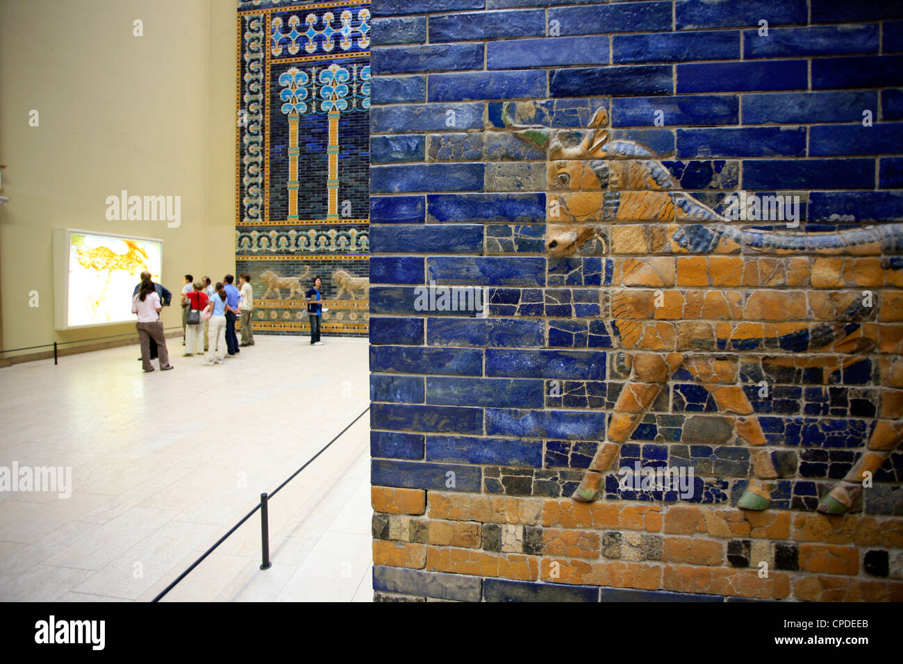 Detail of Ishtar Gate, Pergamon Museum, Berlin, Germany, Europe - Stock Image