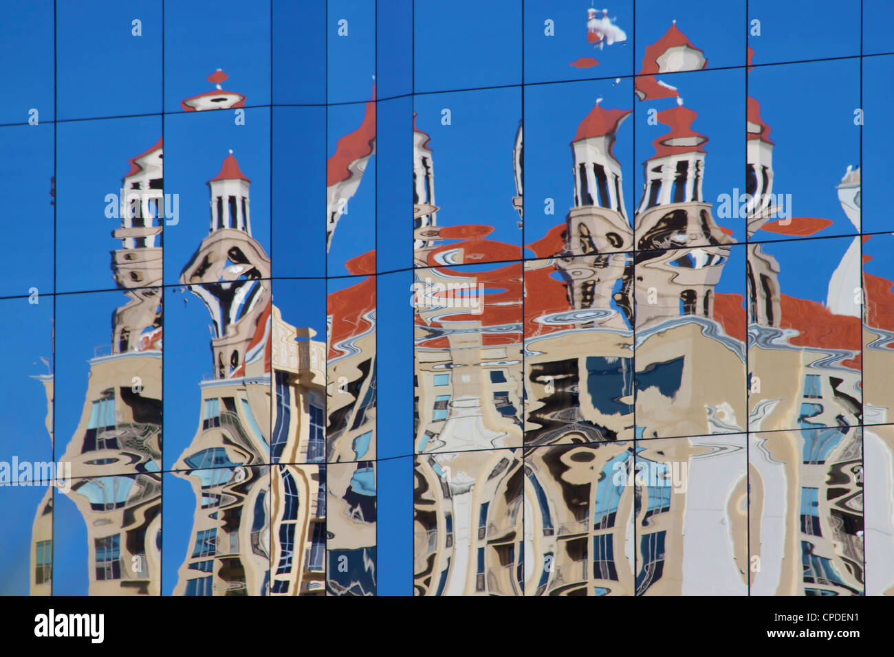 Reflection, Sarasota, Gulf Coast, Florida, United States of America, North America - Stock Image