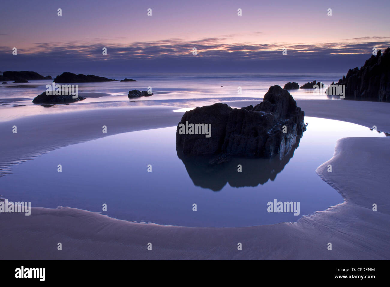 Combesgate Beach, Devon, England, United Kingdom, Europe Stock Photo