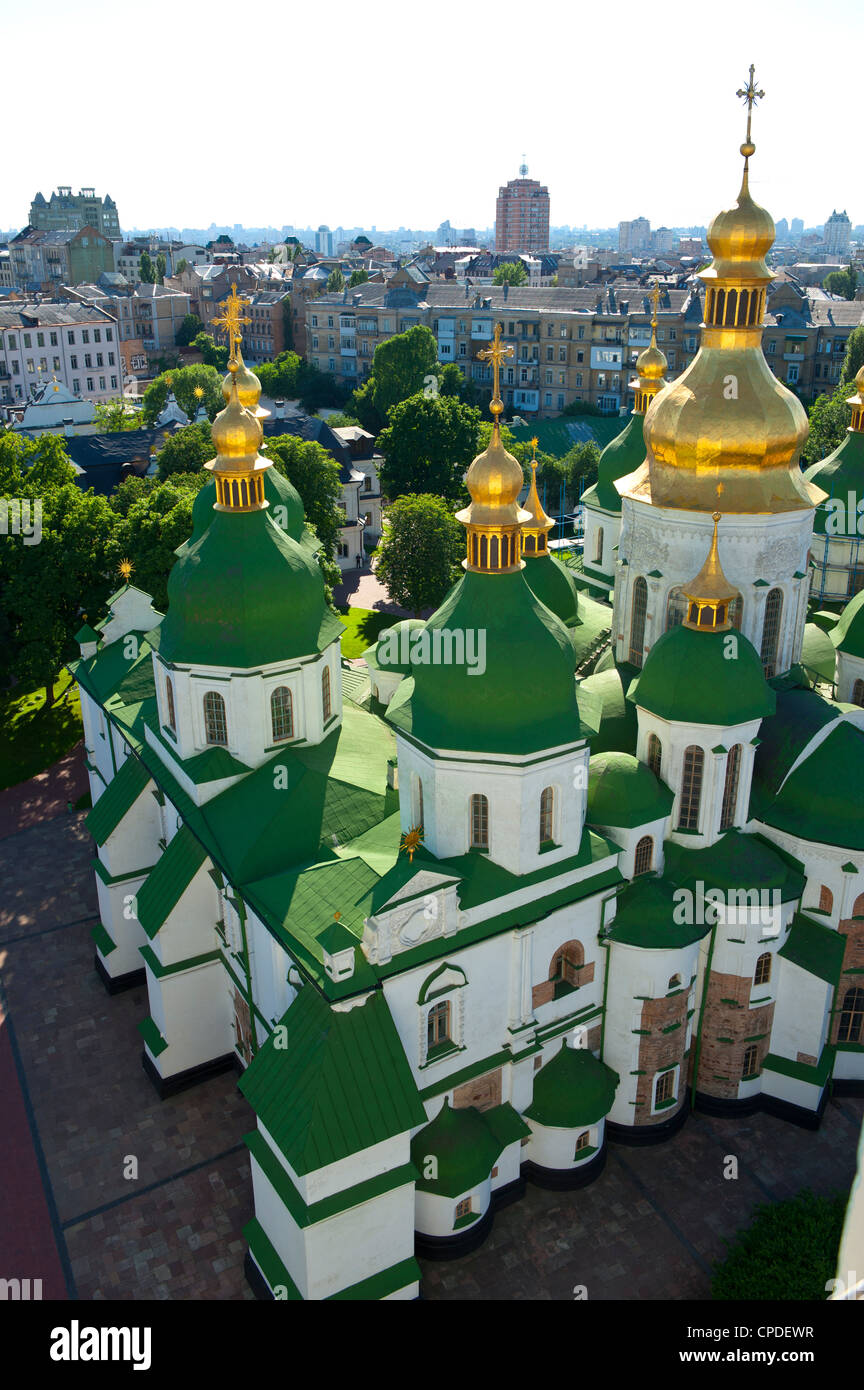 St. Sophia Cathedral Complex, UNESCO World Heritage Site, Kiev, Ukraine, Europe - Stock Image