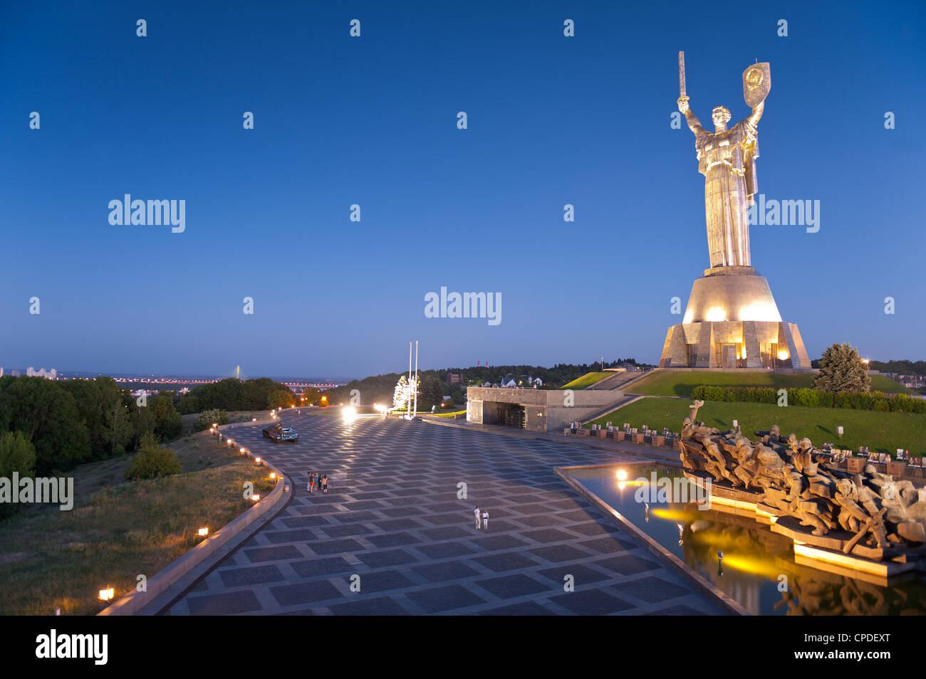 Rodina Mat Statue and The Great Patriotic War Museum, Kiev Ukraine, Europe - Stock Image
