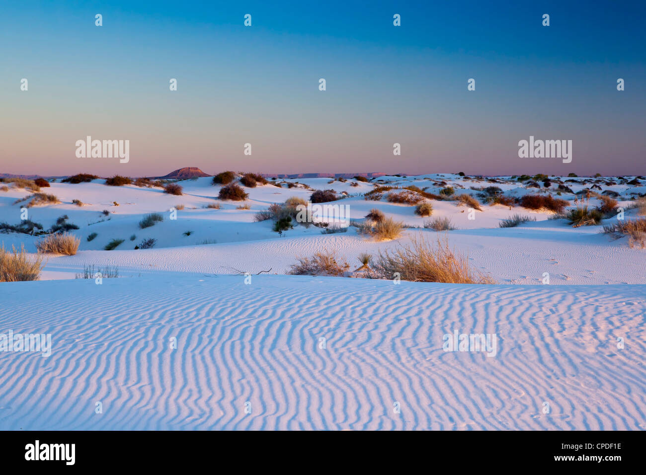 White Sands National Monument, New Mexico, United States of America, North America - Stock Image