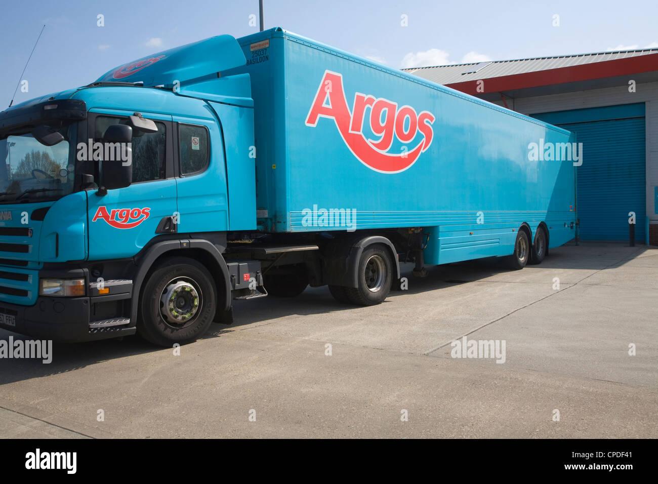 Argos delivery HGV lorry vehicle trailer UK - Stock Image