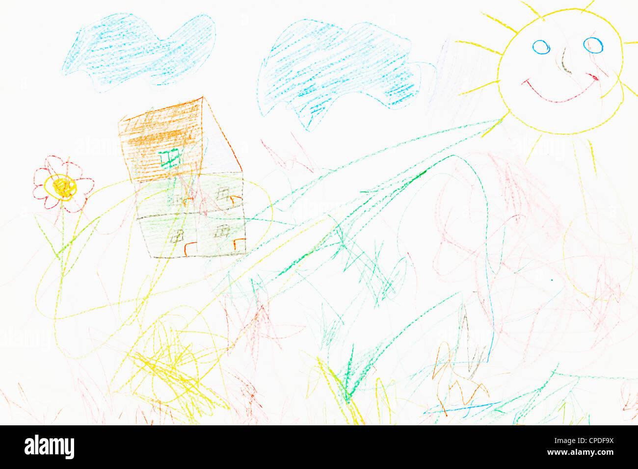 Line Art Of Sun : Drawing pencil sun stock photos & images