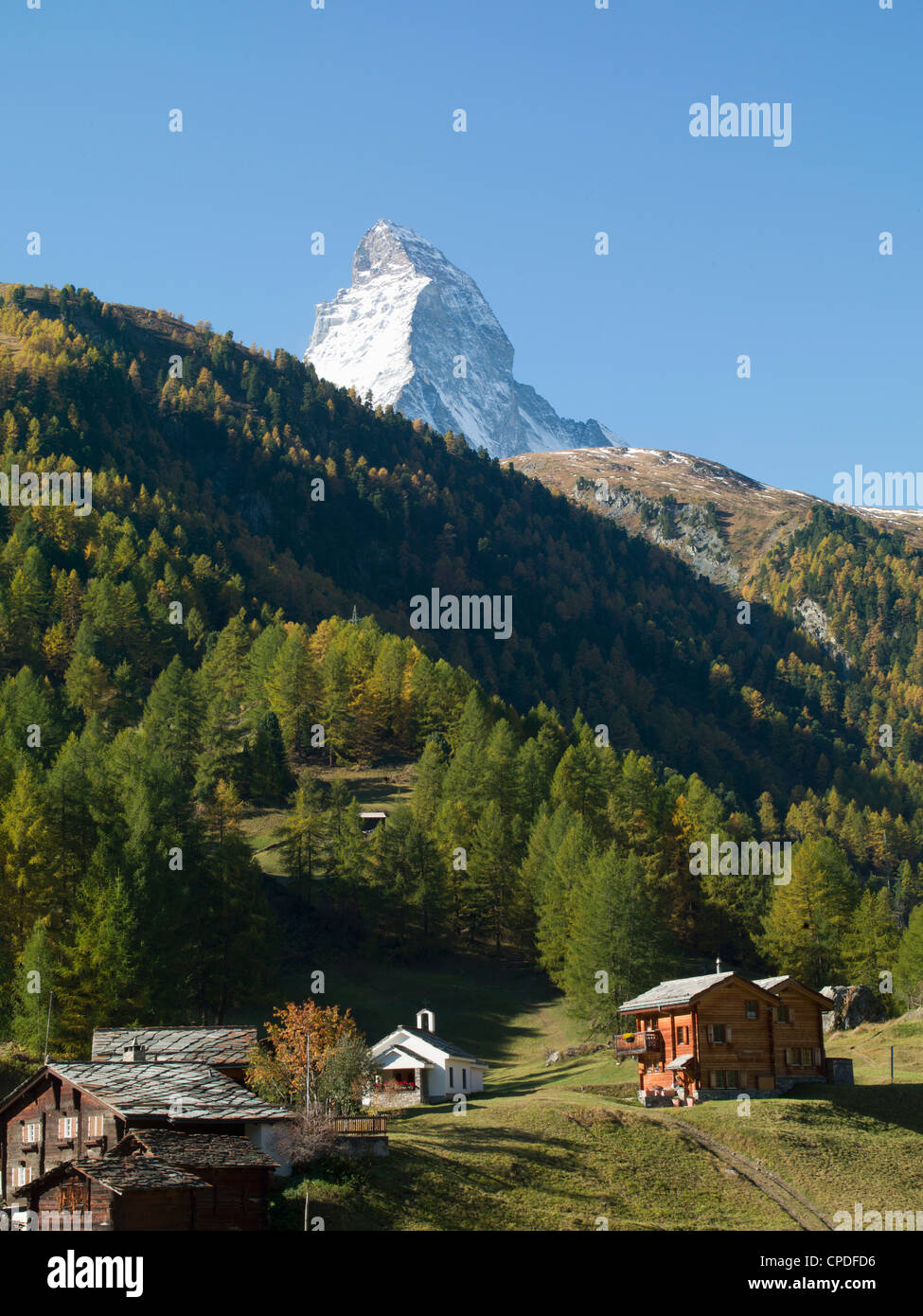 Matterhorn Zermatt Valais Swiss Alps Switzerland Europe Stock