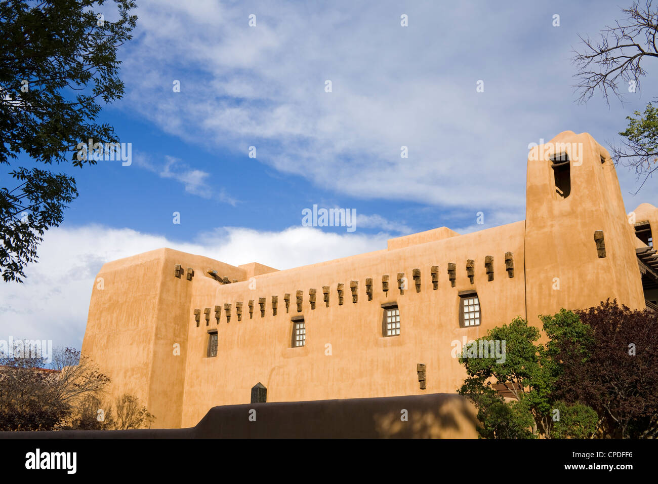 New Mexico Museum of Art, Santa Fe, New Mexico, United States of America, North America - Stock Image