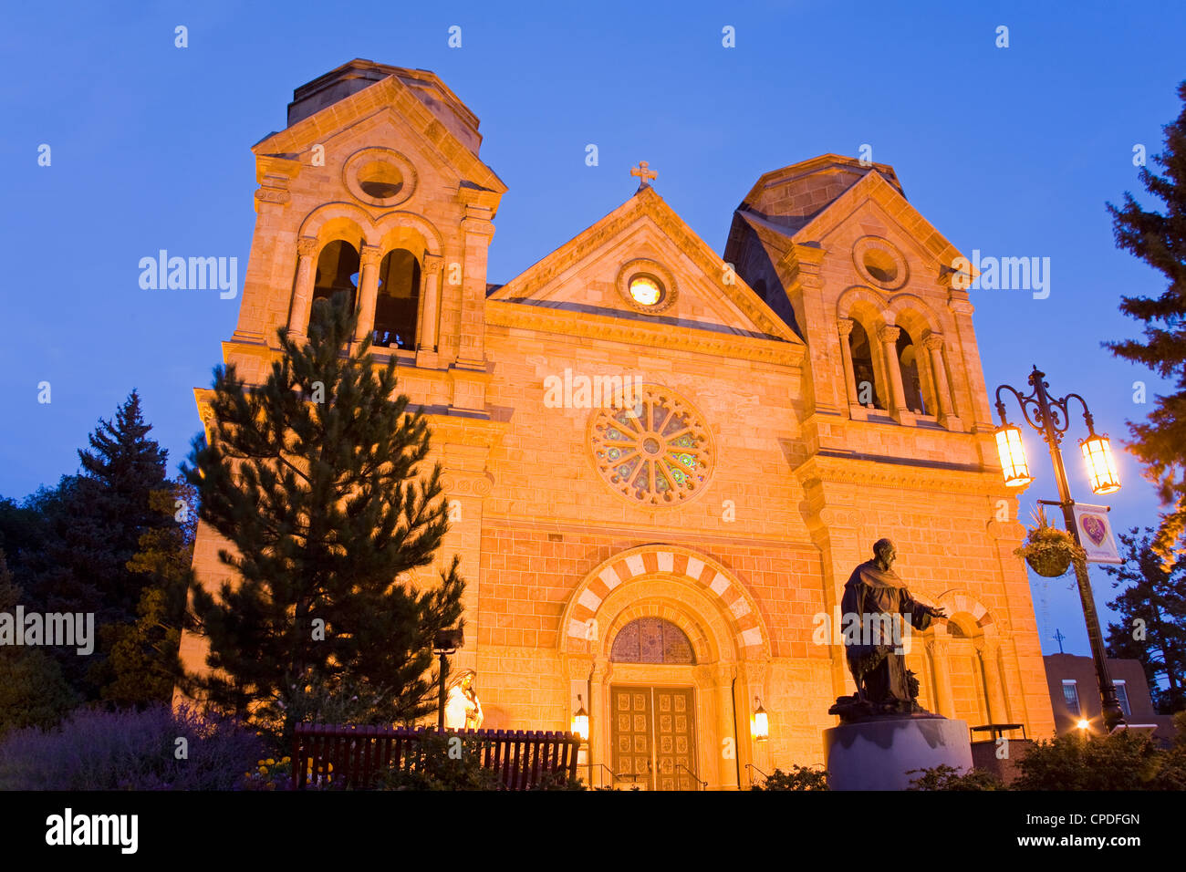 Cathedral Basilica of St. Francis of Assisi, Santa Fe, New Mexico, United States of America, North America - Stock Image
