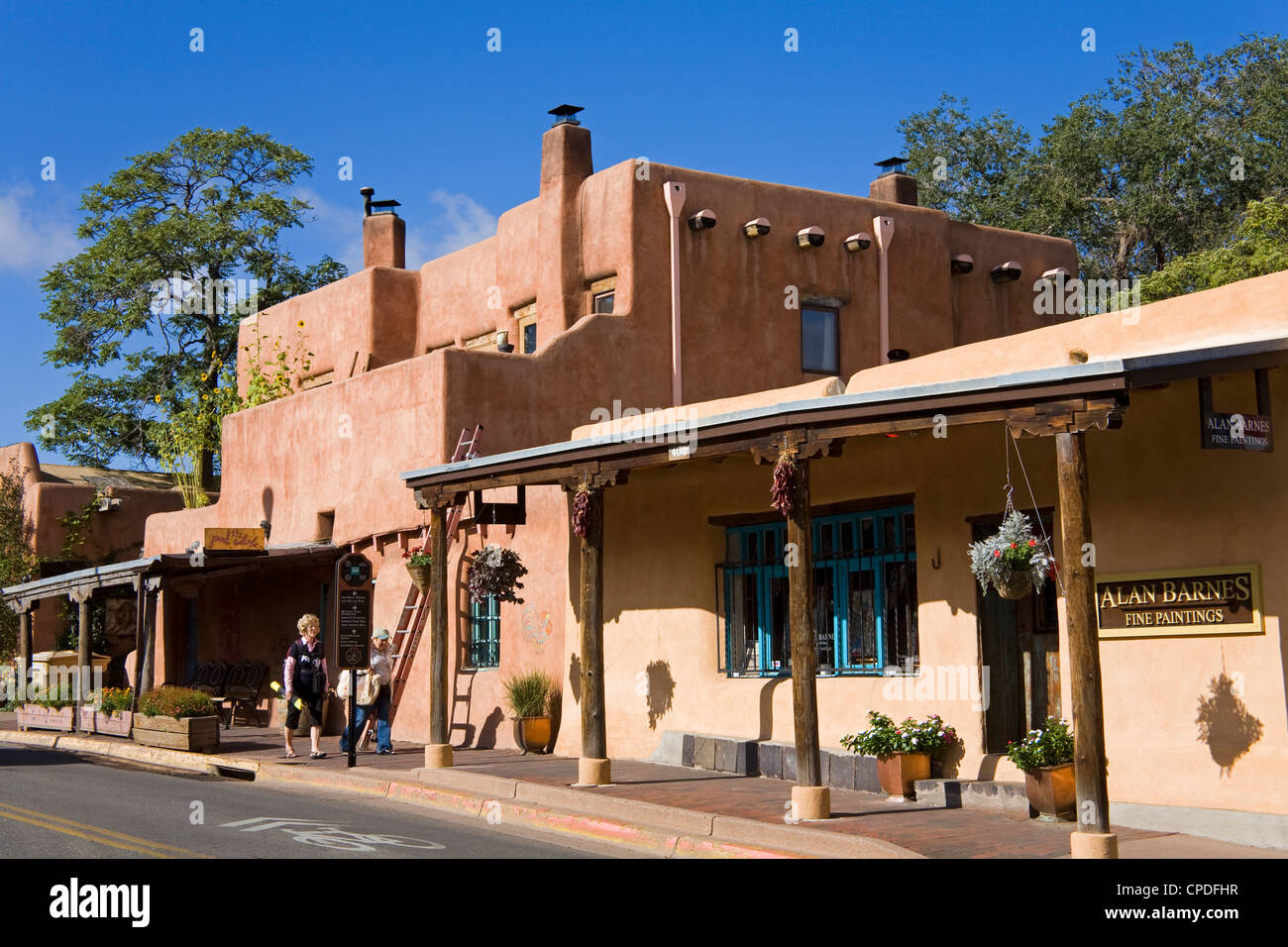 Store on Old Santa Fe Trail, Santa Fe, New Mexico, United States of America, North America - Stock Image