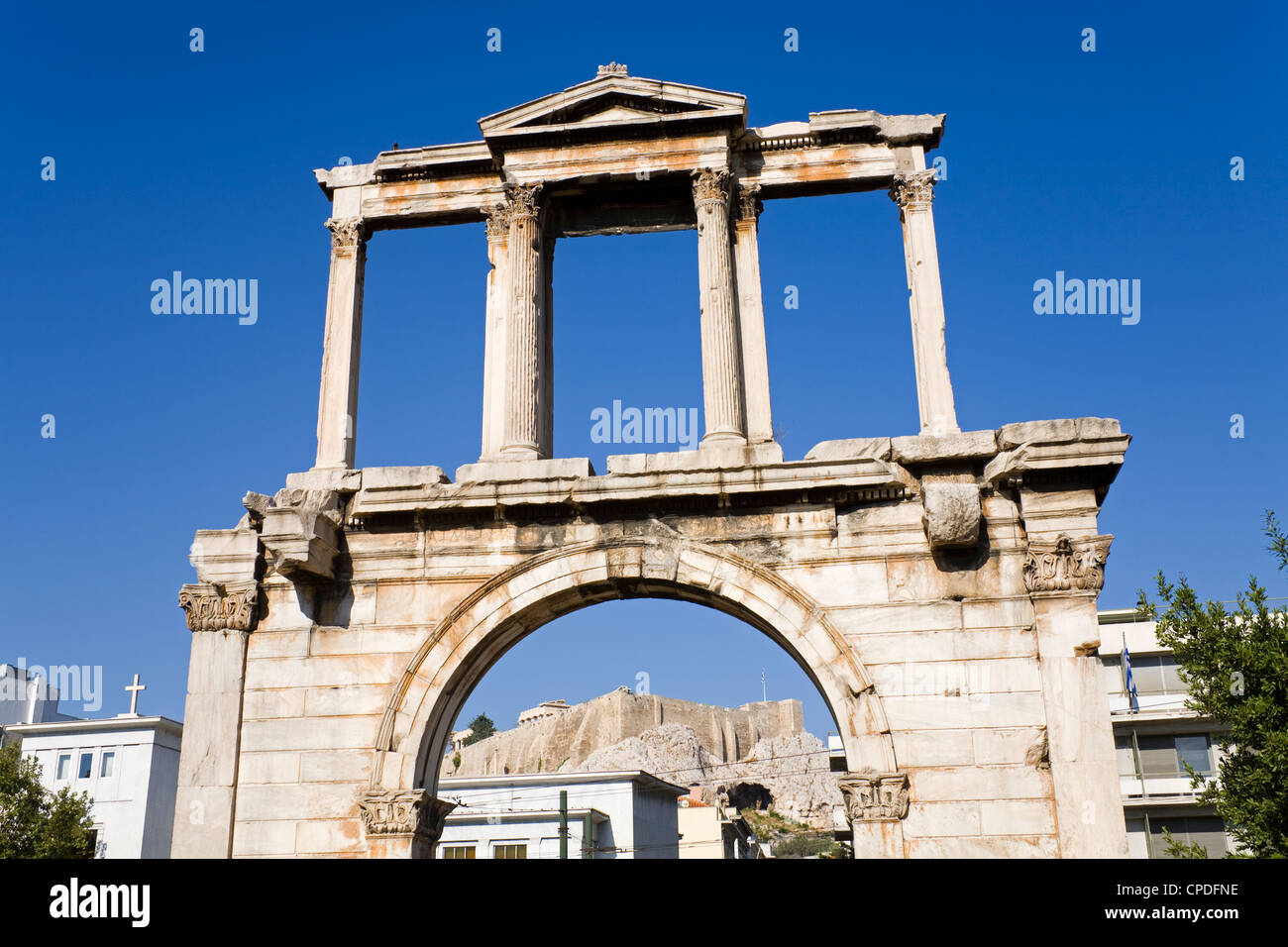 hadrian s arch athens greece europe stock photo 48240906 alamy