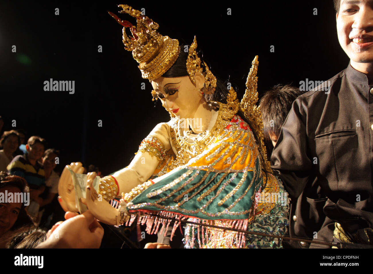 Thai traditional puppet performing - Stock Image