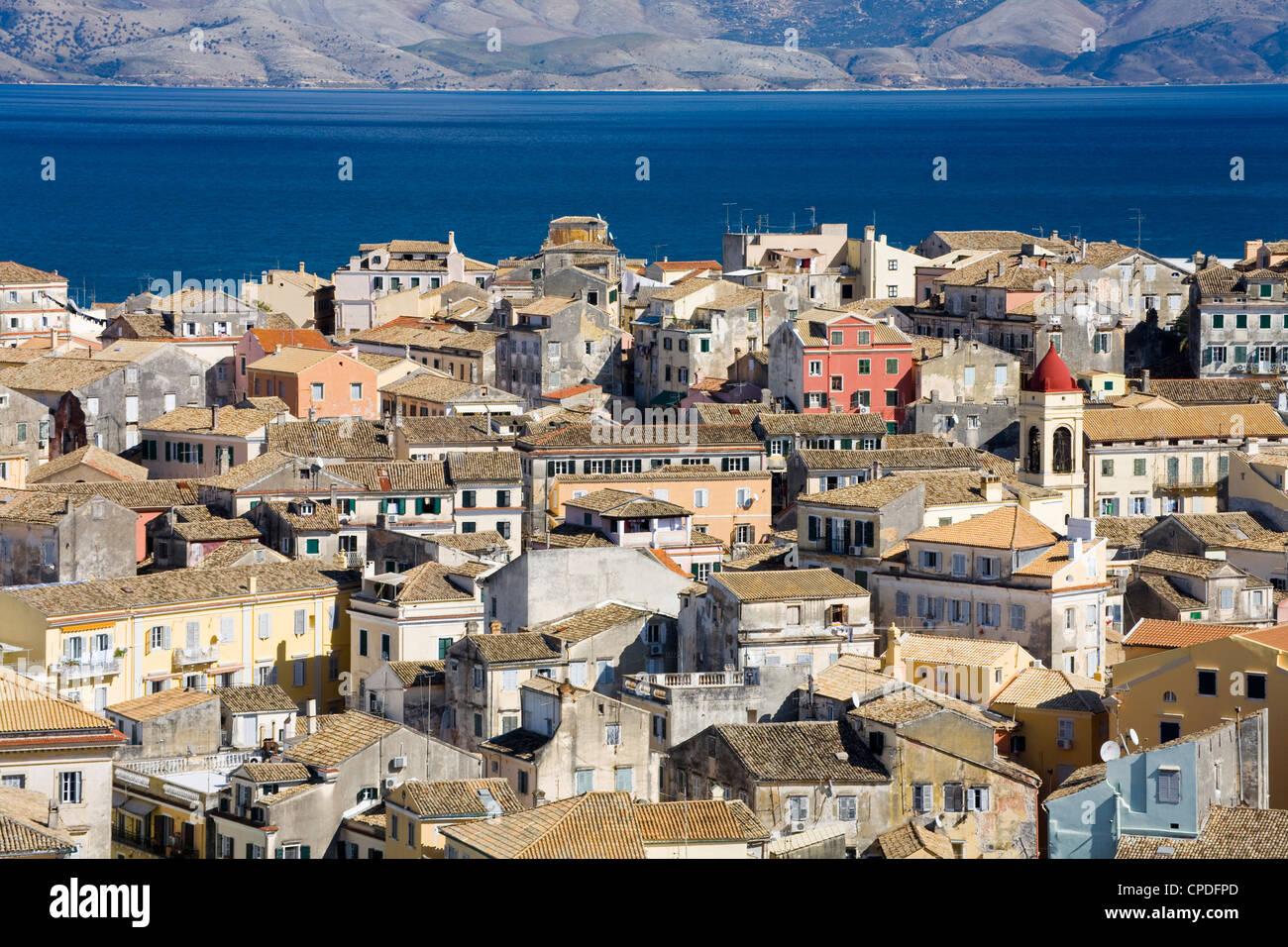 Old Town, Corfu, Ionian Islands, Greek Islands, Greece, Europe - Stock Image