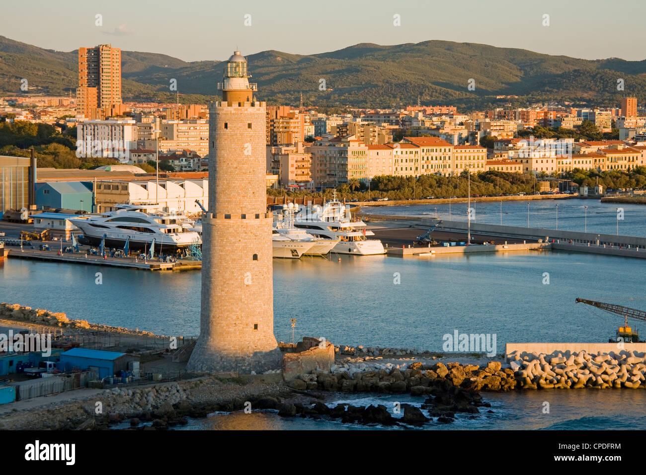 Livorno Lighthouse, Tuscany, Italy, Europe - Stock Image