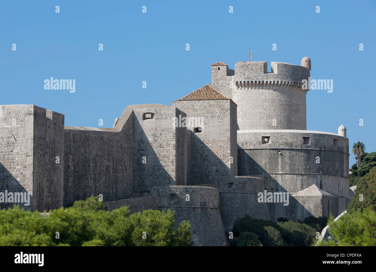 Minceta Fort and town walls, Old Town, UNESCO World Heritage Site, Dubrovnik, Croatia, Europe - Stock Image