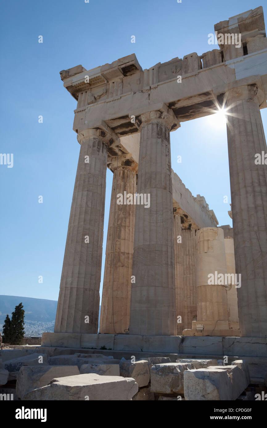 The Parthenon on the Acropolis, UNESCO World Heritage Site, Athens, Greece, Europe - Stock Image