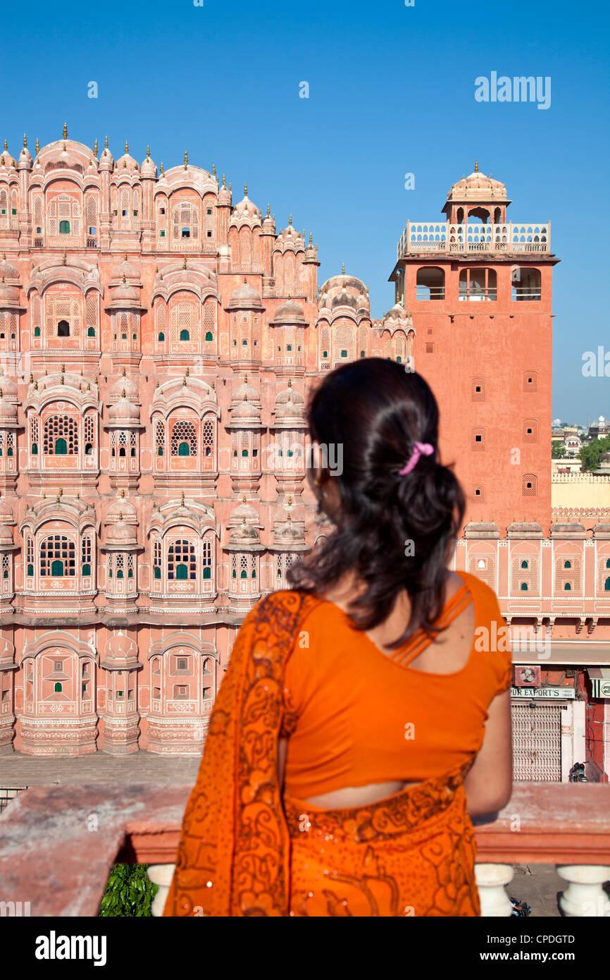 Hawa Mahal (Palace of the Winds), built in 1799, Jaipur, Rajasthan, India, Asia - Stock Image