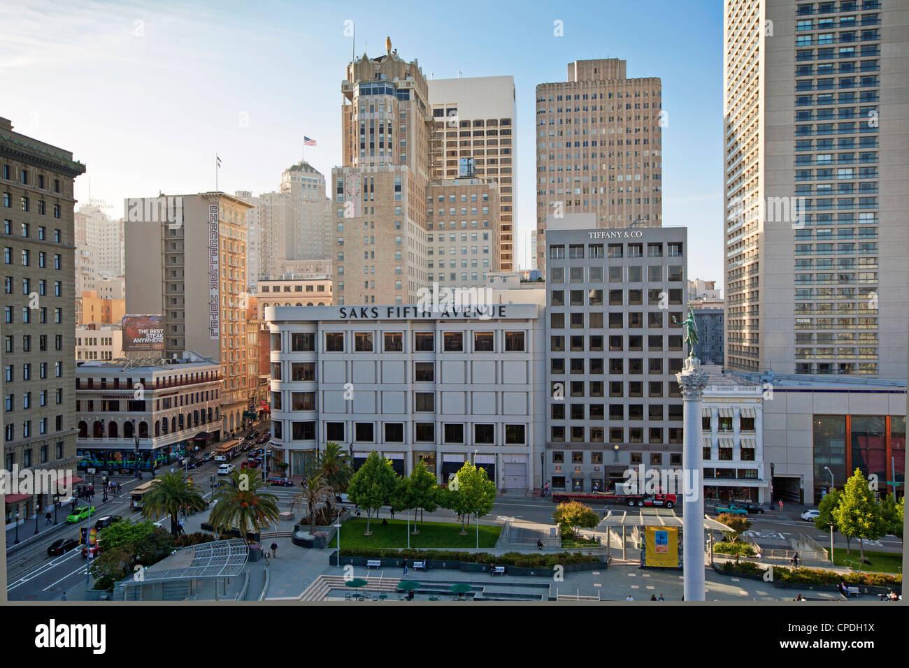 Union Square, Downtown, San Francisco, California, United States of America, North America - Stock Image