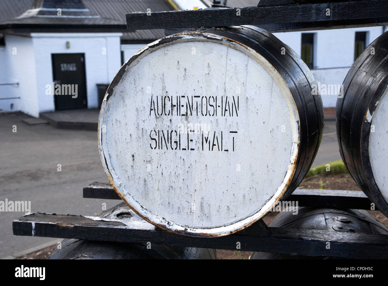 Auchentoshan distillery clydebank glasgow Scotland UK - Stock Image