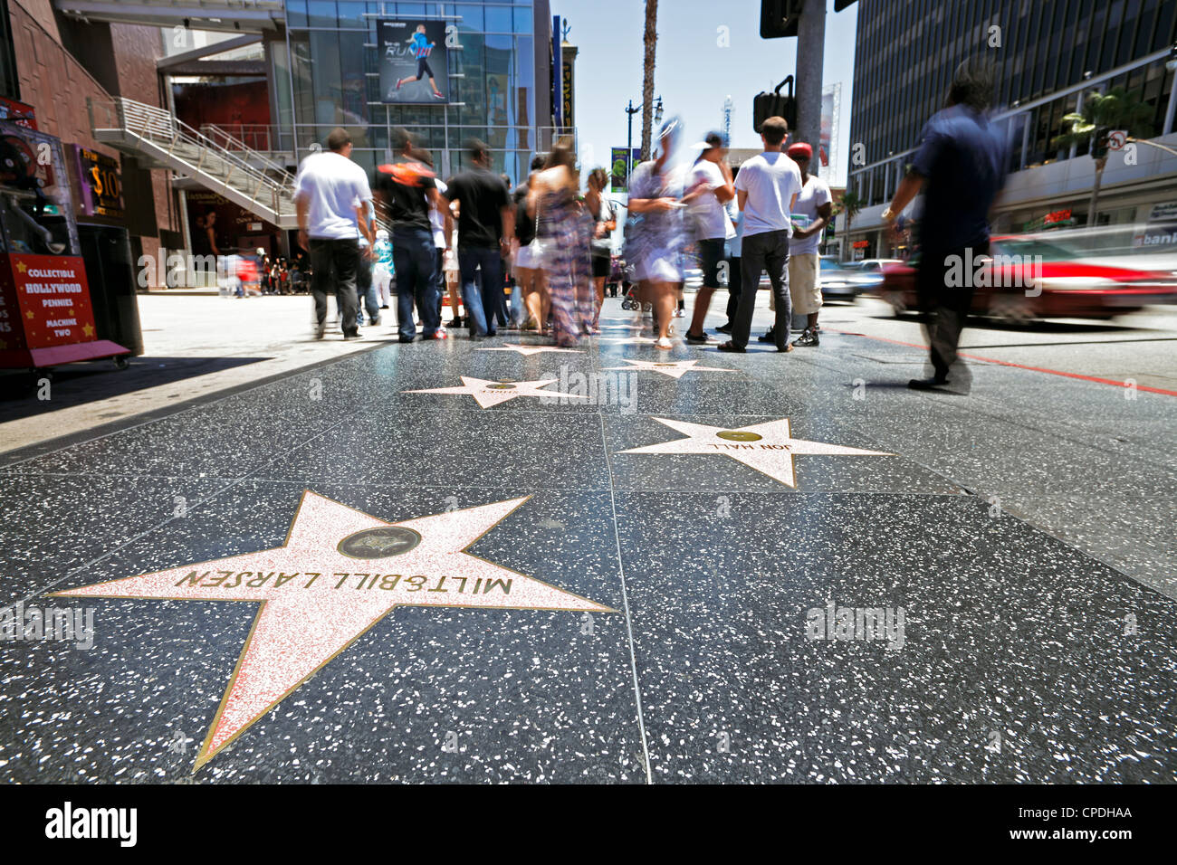 Walk of Fame, Hollywood Boulevard, Los Angeles, California, United States of America, North America - Stock Image