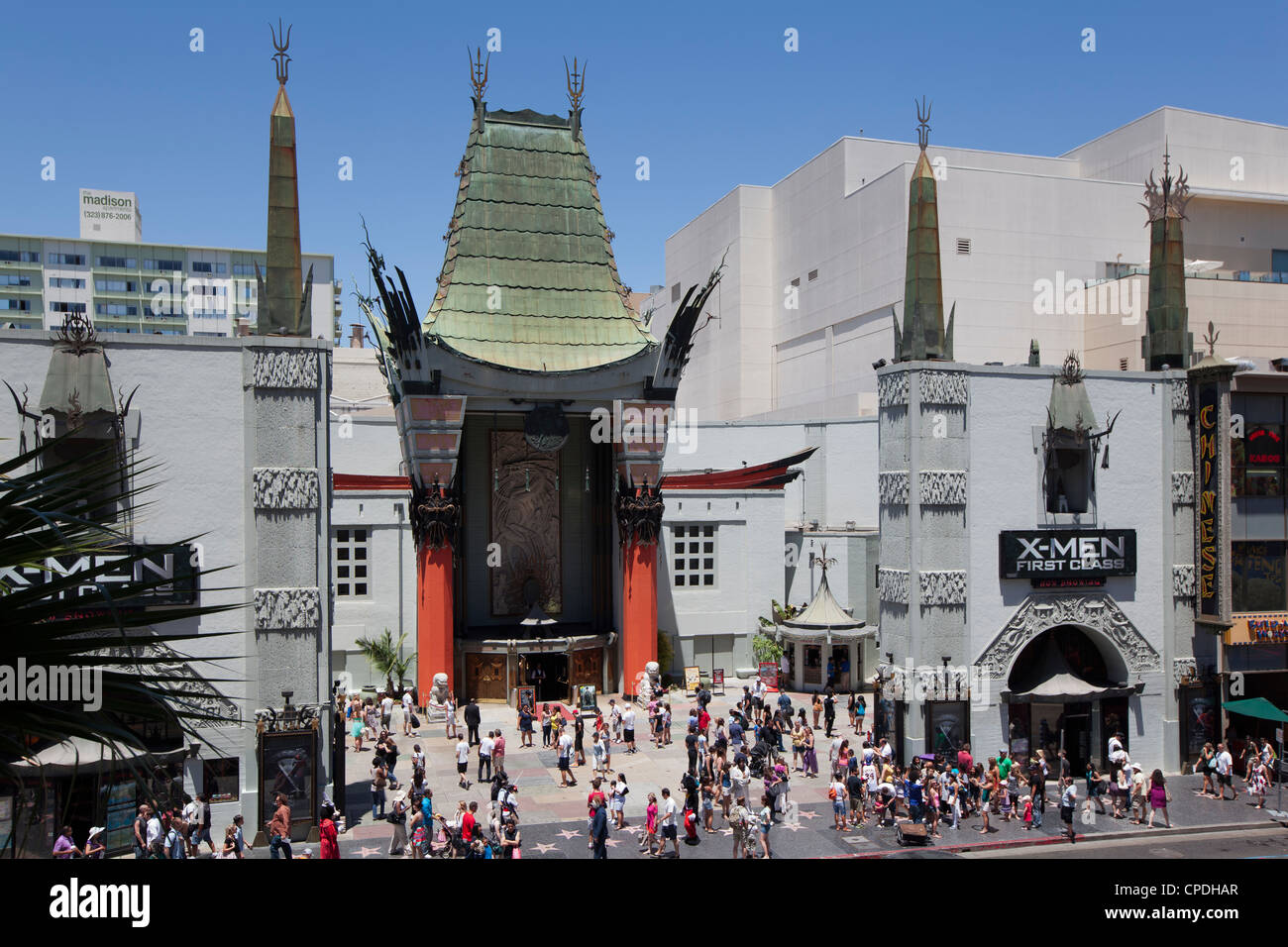 Grauman's Chinese Theatre, Hollywood Boulevard, Hollywood, Los Angeles, California, United States of America, - Stock Image