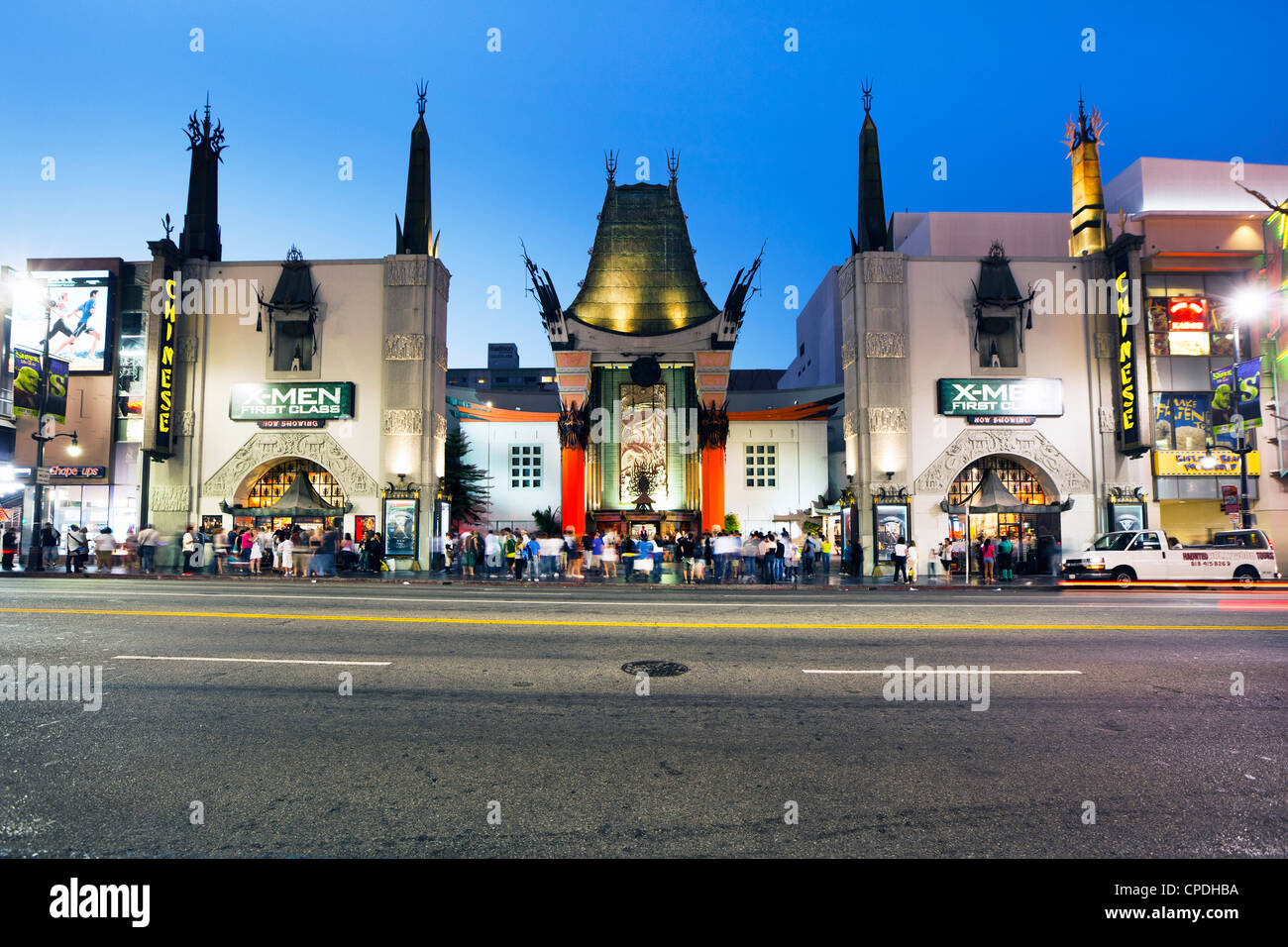 Grauman's Chinese Theatre, Hollywood Boulevard, Los Angeles, California, United States of America, North America - Stock Image