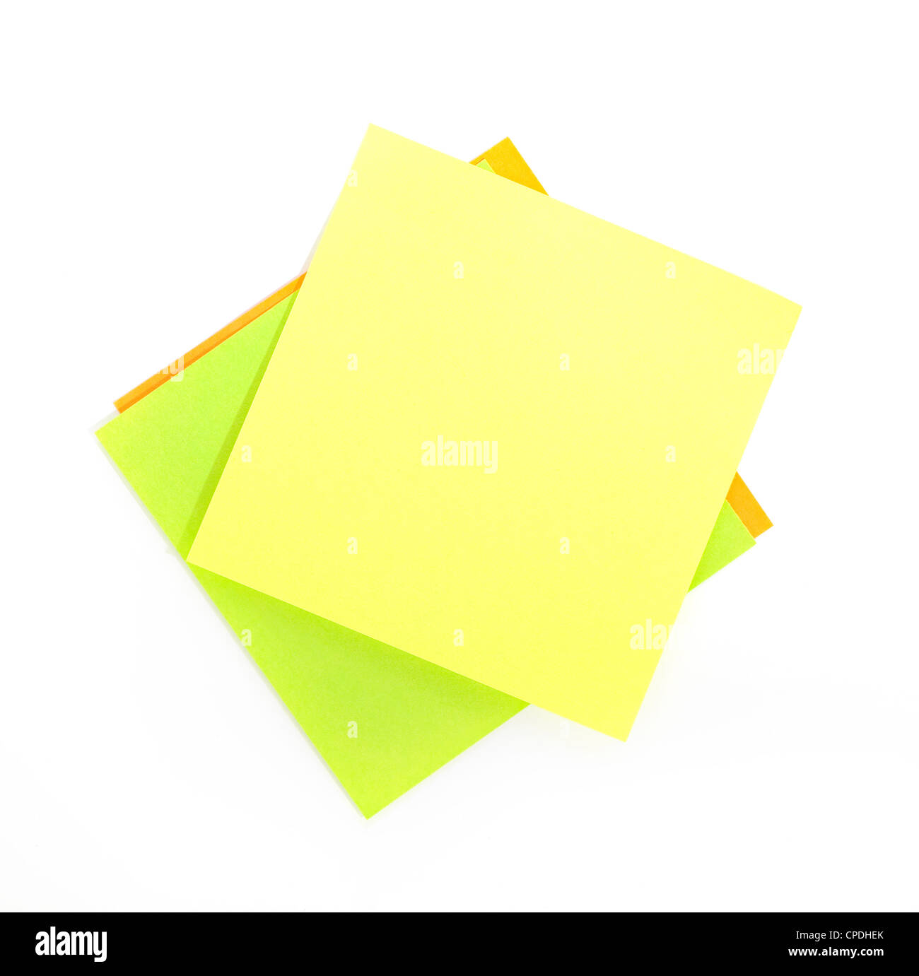 Post it for reminder note on the white background - Stock Image
