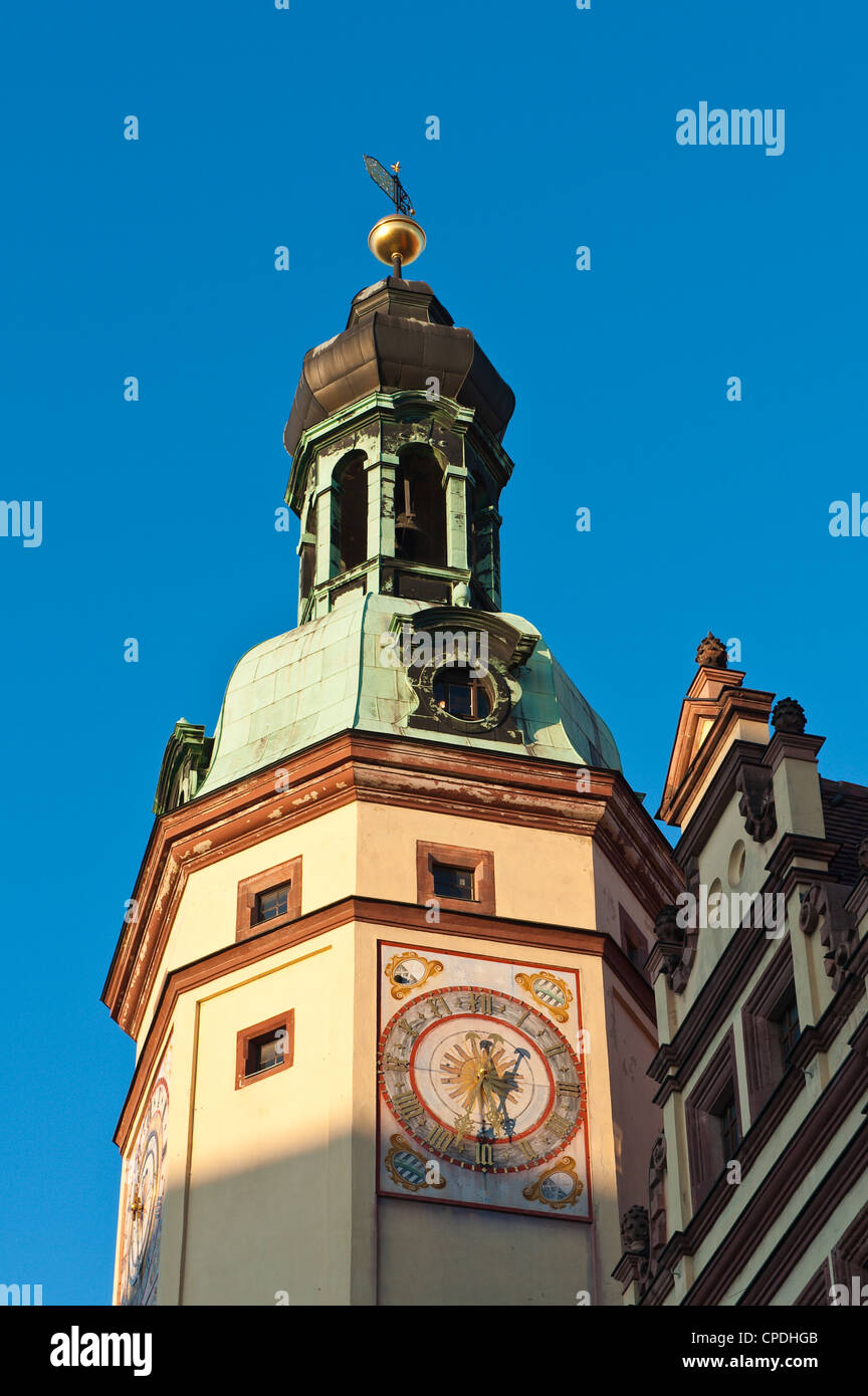 Altes Rathaus (Town Hall), Leipzig, Saxony, Germany, Europe - Stock Image