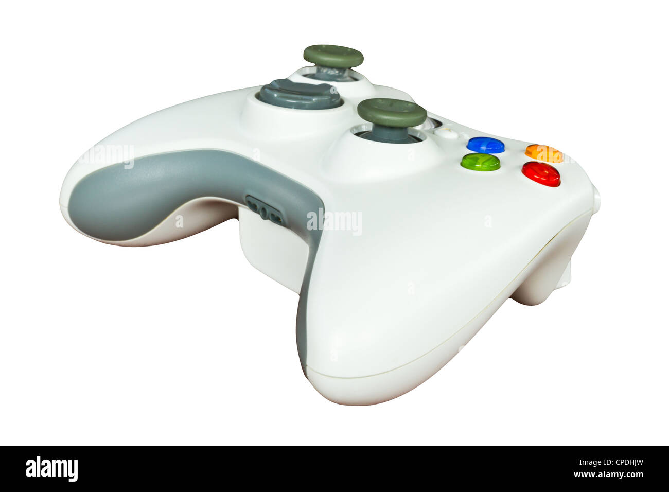 Game controller isolated on white background - Stock Image