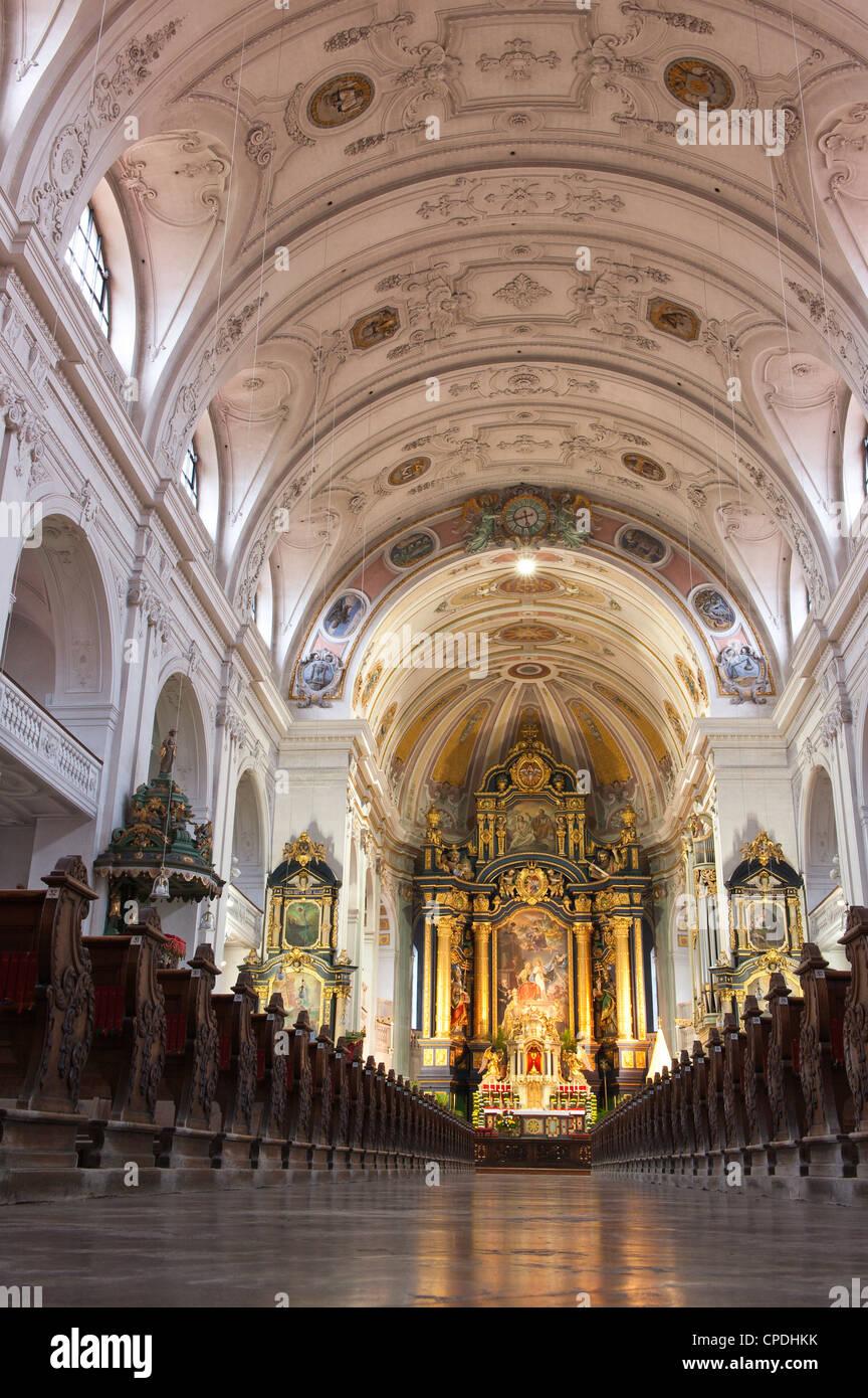 St. Anne's Basilica, Altoetting (Altotting), Bavaria, Germany, Europe - Stock Image