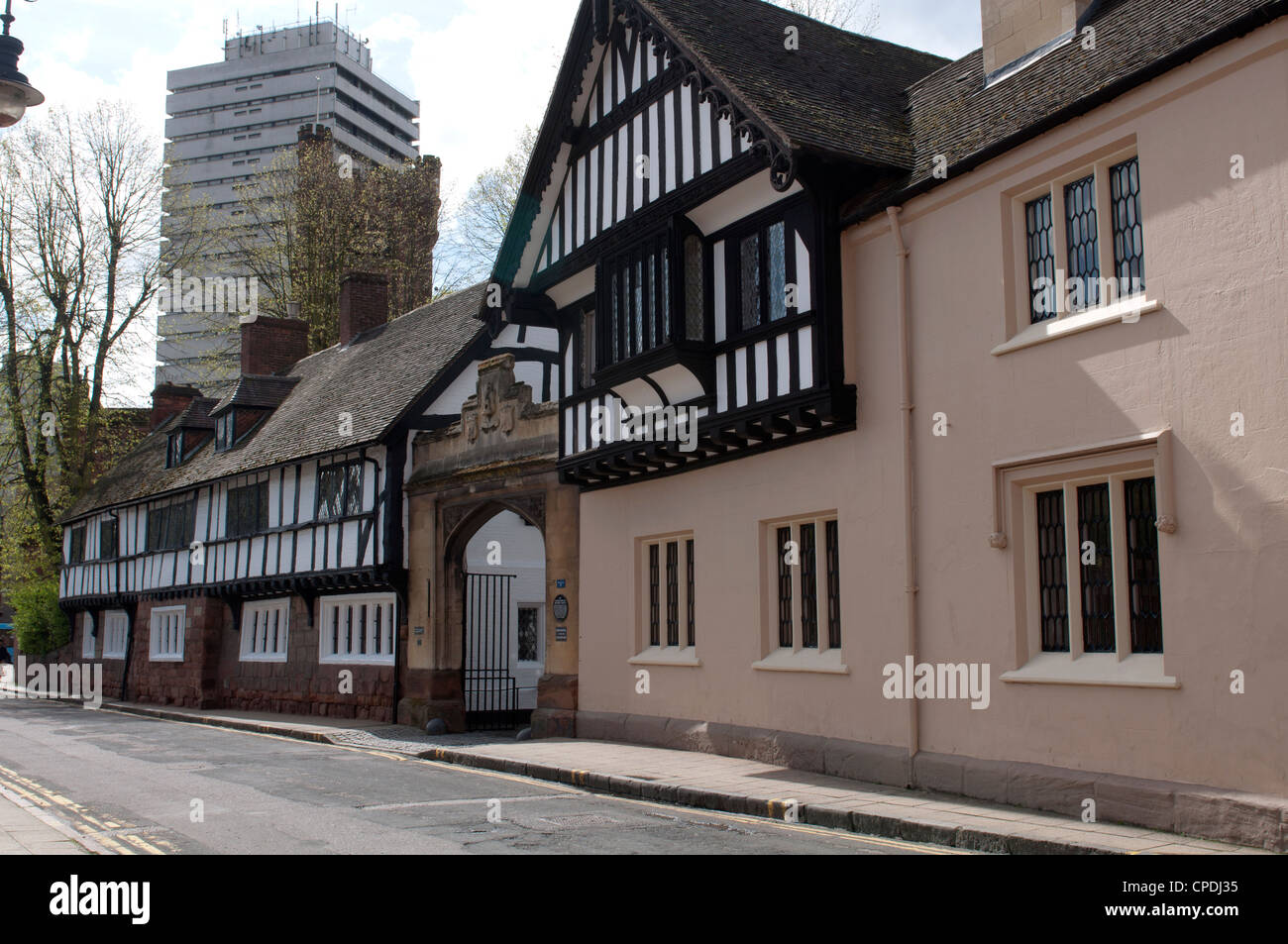 Old Bablake School and Bond`s Hospital, Coventry, UK - Stock Image