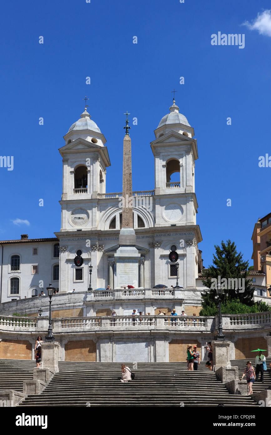 Trinita dei Monti church, Rome, Lazio, Italy, Europe - Stock Image