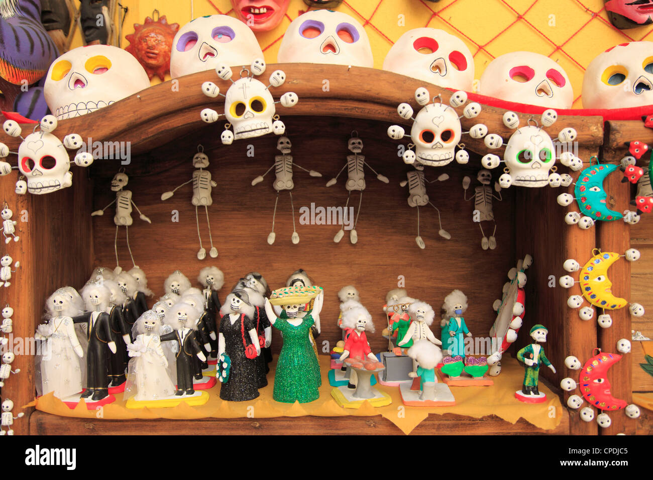 Day of the Dead Folk Art, Oaxaca City, Oaxaca, Mexico, North America - Stock Image
