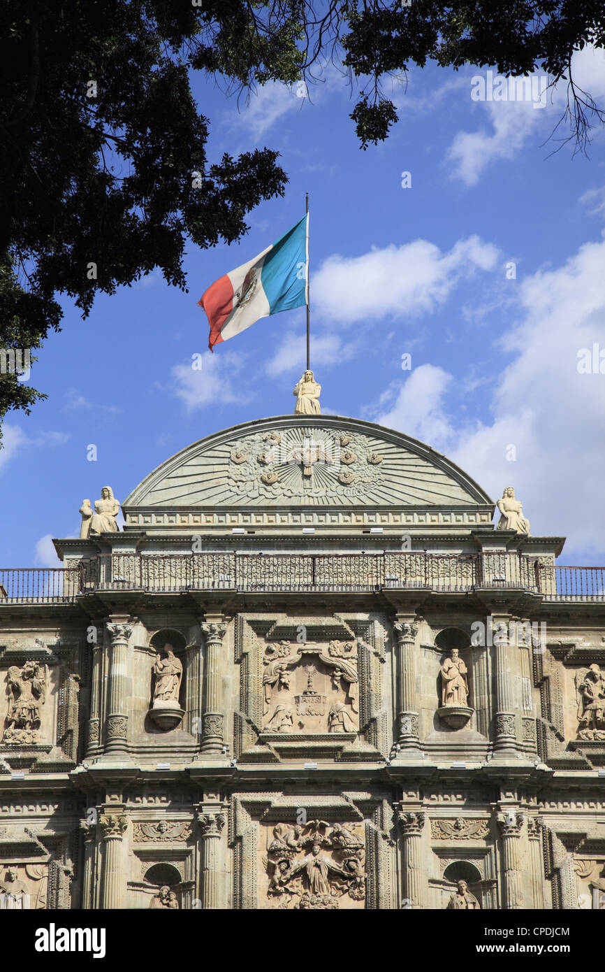 Cathedral Alameda de Leon, Oaxaca City, Oaxaca, Mexico, North America - Stock Image
