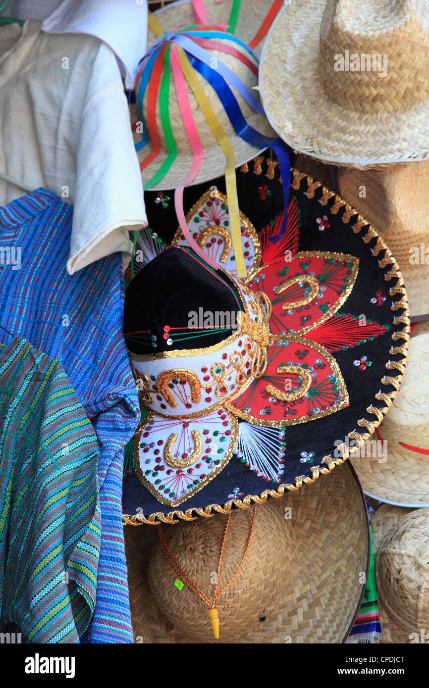 Hats, souvenirs, Puebla, Historic Center, Puebla State, Mexico, North America - Stock Image