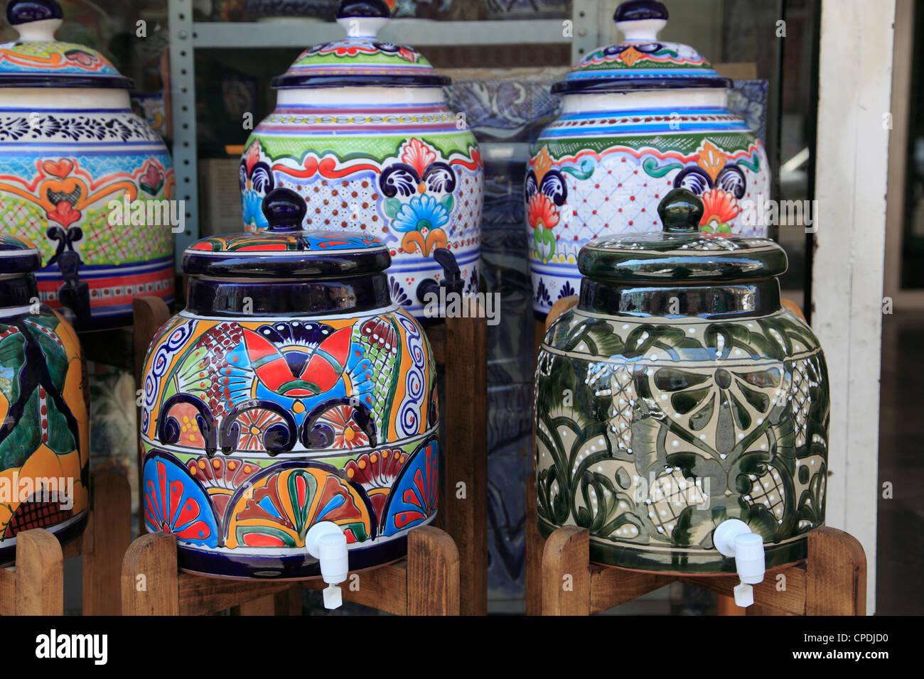 Talavera pottery, Puebla, Historic Center, Puebla State, Mexico, North America - Stock Image