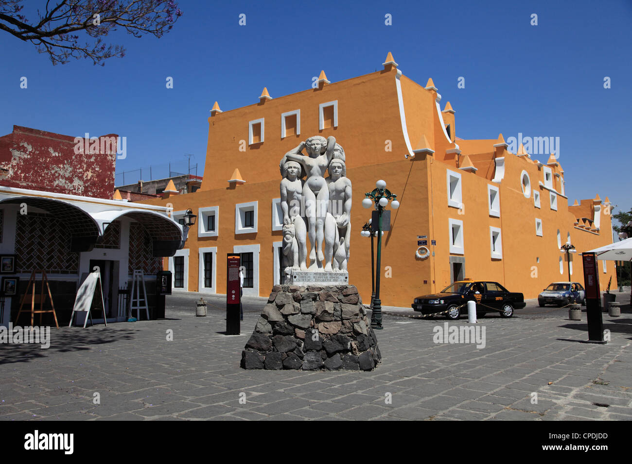 Genesis Statue, Artists Quarter (Barrio del Artista), Puebla, Historic Center, Puebla State, Mexico, North America - Stock Image